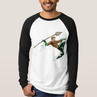 T-shirt Aquaman se précipitant avec la lance
