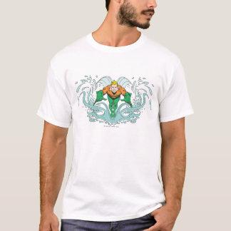 T-shirt Aquaman se précipitant en avant