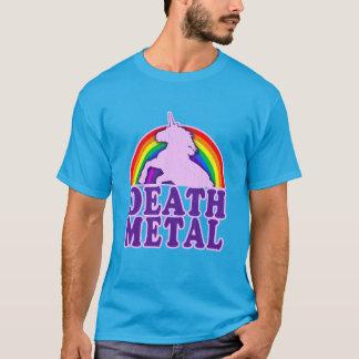 T-shirt Arc-en-ciel drôle de licorne en métal de la mort