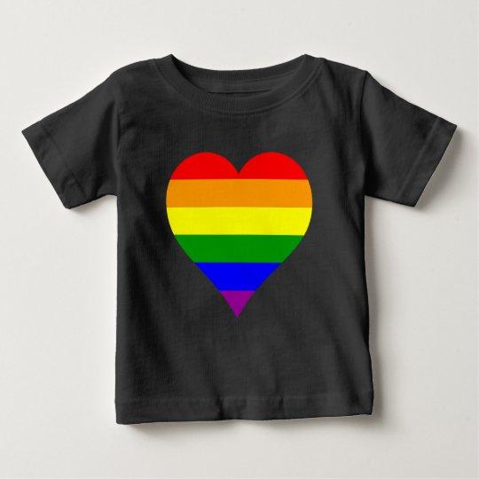 T-Shirt Baby Flag Heart Schwul