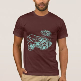 T-shirt Bactériophage de Steampunk contre des bactéries