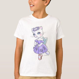 T - Shirt Ballerinakitty-(Lavendel)
