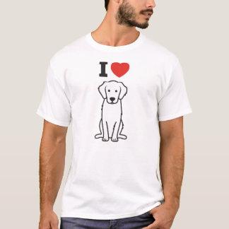 T-shirt Bande dessinée de chien de golden retriever