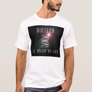 T-shirt Biotechnologie. L'épissure de la vie. (carré noir)