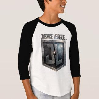 T-shirt Bouclier métallique de la ligue de justice   JL