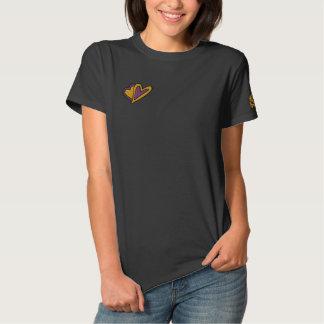 T-shirt Brodé Chemise brodée décorée d'un monogramme customisée
