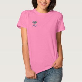 T-shirt Brodé Chemise brodée décorée d'un monogramme de papillon