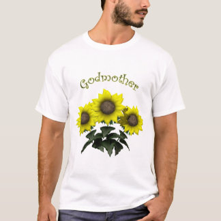 T-shirt Cadeaux de jour de mères de marraine de tournesol