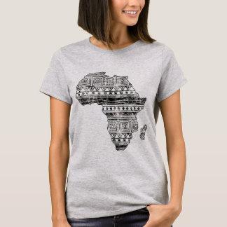 T-shirt Carte modelée de l'Afrique