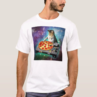 T-shirt Chat de l'espace du DJ tournant un certain Za doux
