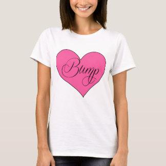 T-shirt Chemise de maternité mignonne de coeur de bosse