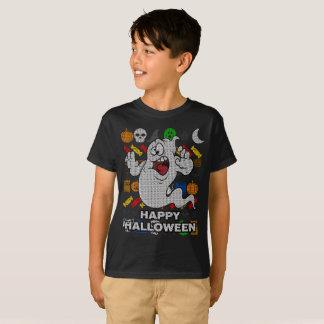 T-shirt Chemise laide de vacances de fantôme drôle -