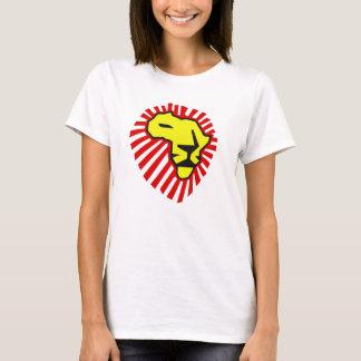 T-shirt Chemise rouge de l'Afrique de lion de jaune de