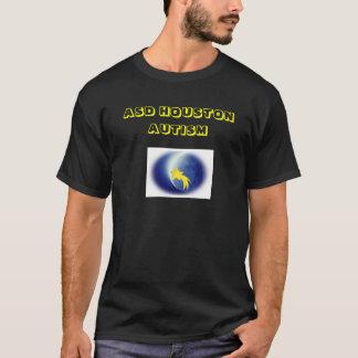 T-shirt Chemises d'autisme d'ASD Houston (noir)