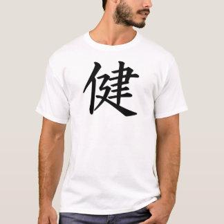 T-shirt chinois de signe de santé