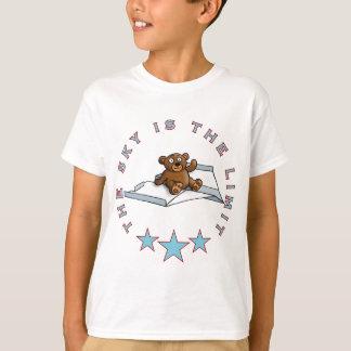 T-shirt comic teddy bear on papier plats