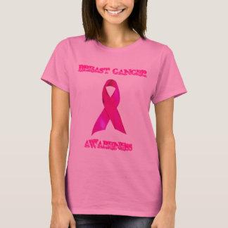T-shirt Conscience de cancer du sein de dames