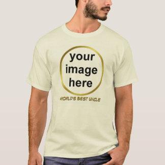 T-shirt Créez le MEILLEUR ONCLE photo du votre propre