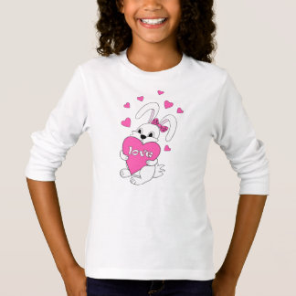 T-shirt cute bunny with love