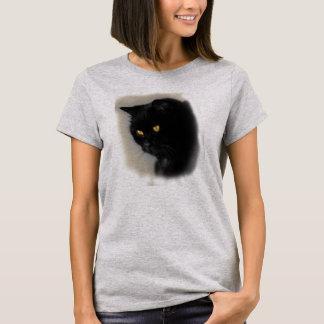 T-shirt Damenshirt avec un motif de chat