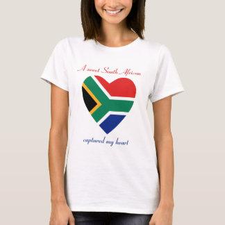 T-shirt d'amoureux de drapeau de l'Afrique du Sud