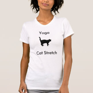T-shirt de bout droit de chat de yoga
