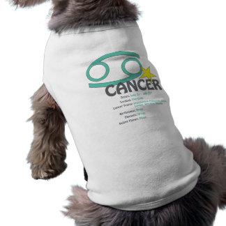 T-shirt de chien de traits de Cancer