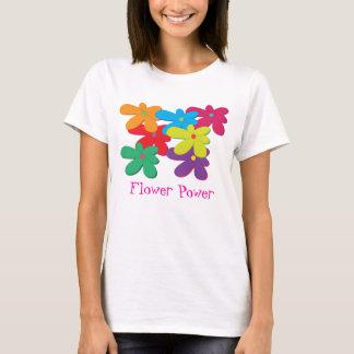 T-shirt de dames de flower power