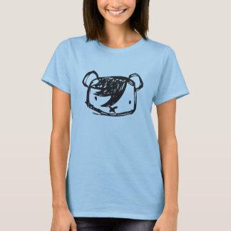 T-shirt de dames d'ours d'Emo