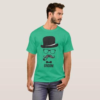 T-shirt de mariage du marié des hommes