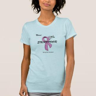 T-shirt de SURVIVANT de cancer du sein - customisé