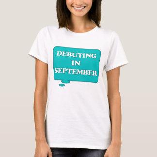 T-shirt DEBUTING en septembre ENTRETIEN DE MATERNITÉ