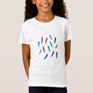 T - Shirt der Babydoll der Mädchen mit Federn