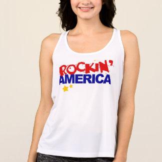 T-Shirt der Damen-Rockin Amerika