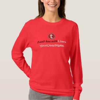 T - Shirt der Linien-Frauen (vibrierende Farben)