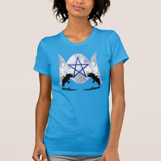 T - Shirt der Pentagram-dreifacher Moon2