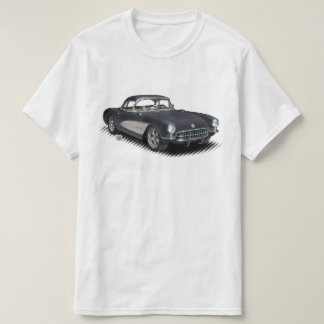 T - Shirt des Holzkohlen-Schwarzen 56-57