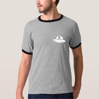 T-shirt Design graues und schwarzes alien