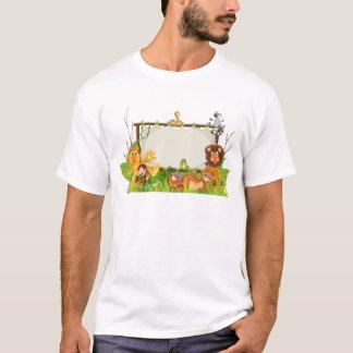 T-shirt divers animaux sur le globe de la terre