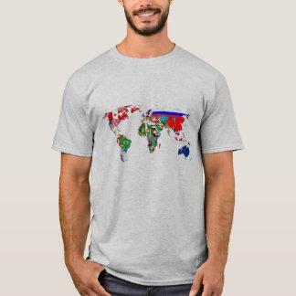 T-shirt Drapeaux du monde