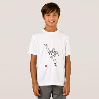 T-shirt DWICHAGI back kick Sport-Tek-Teakholz