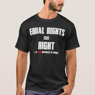 T-shirt Égalité des droits = droit (texte blanc)