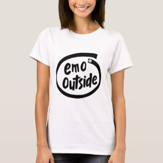 T-shirt Emo dehors
