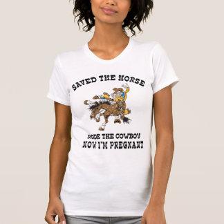 T-shirt enceinte de maternité de cow-girl