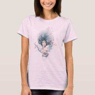 T-shirt Femme et fleurs de merveille