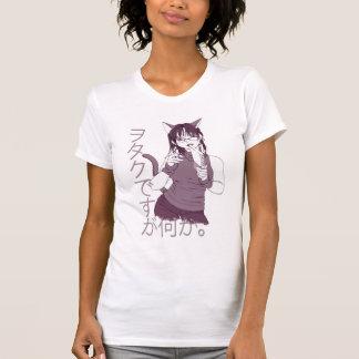 T-shirt Fille de chat d'Otaku