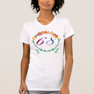 T-shirt flower power en 1968 68