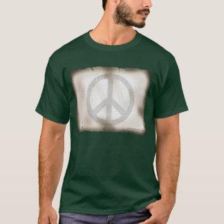 T-shirt foncé de base de paix