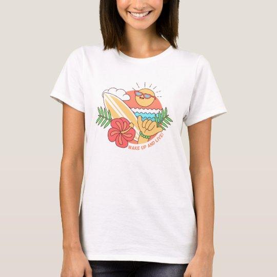 T - shirt Frau Leertaste BASIC Surfing