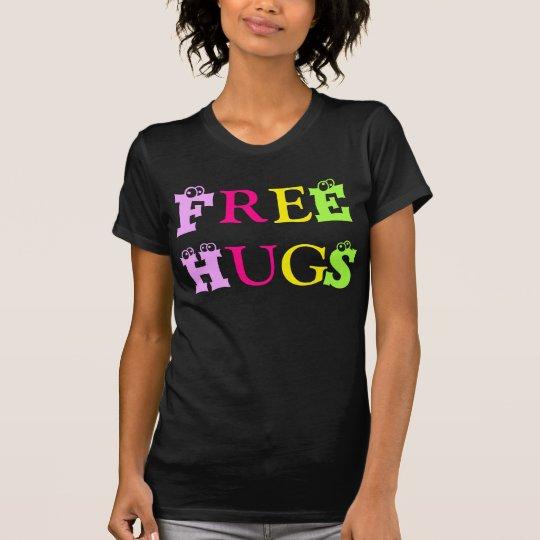 T-Shirt-Freie Umarmungen/bunte artisticletters, T-Shirt